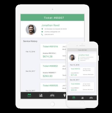 Smartserv software mobile viiew