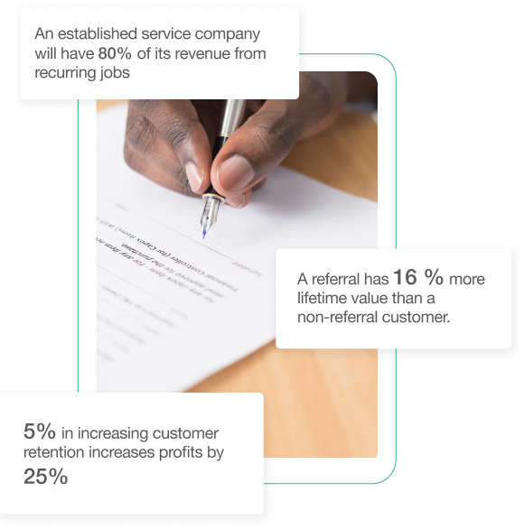 growth by service agreements