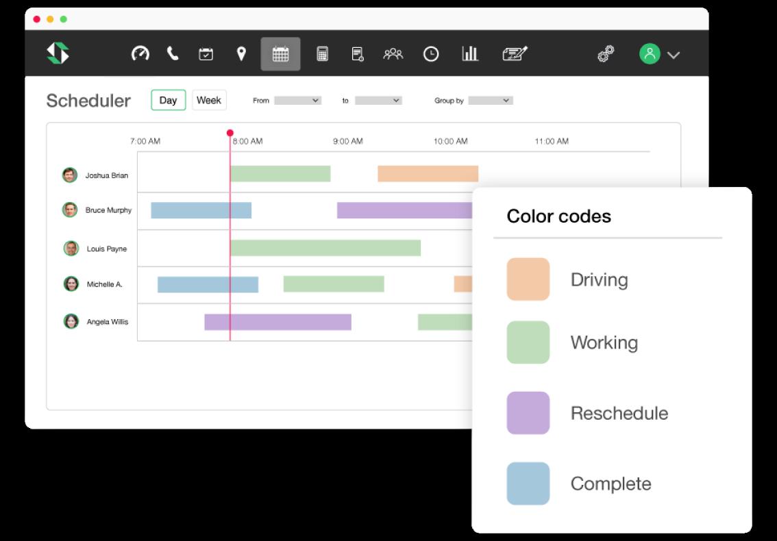 color code scheduler