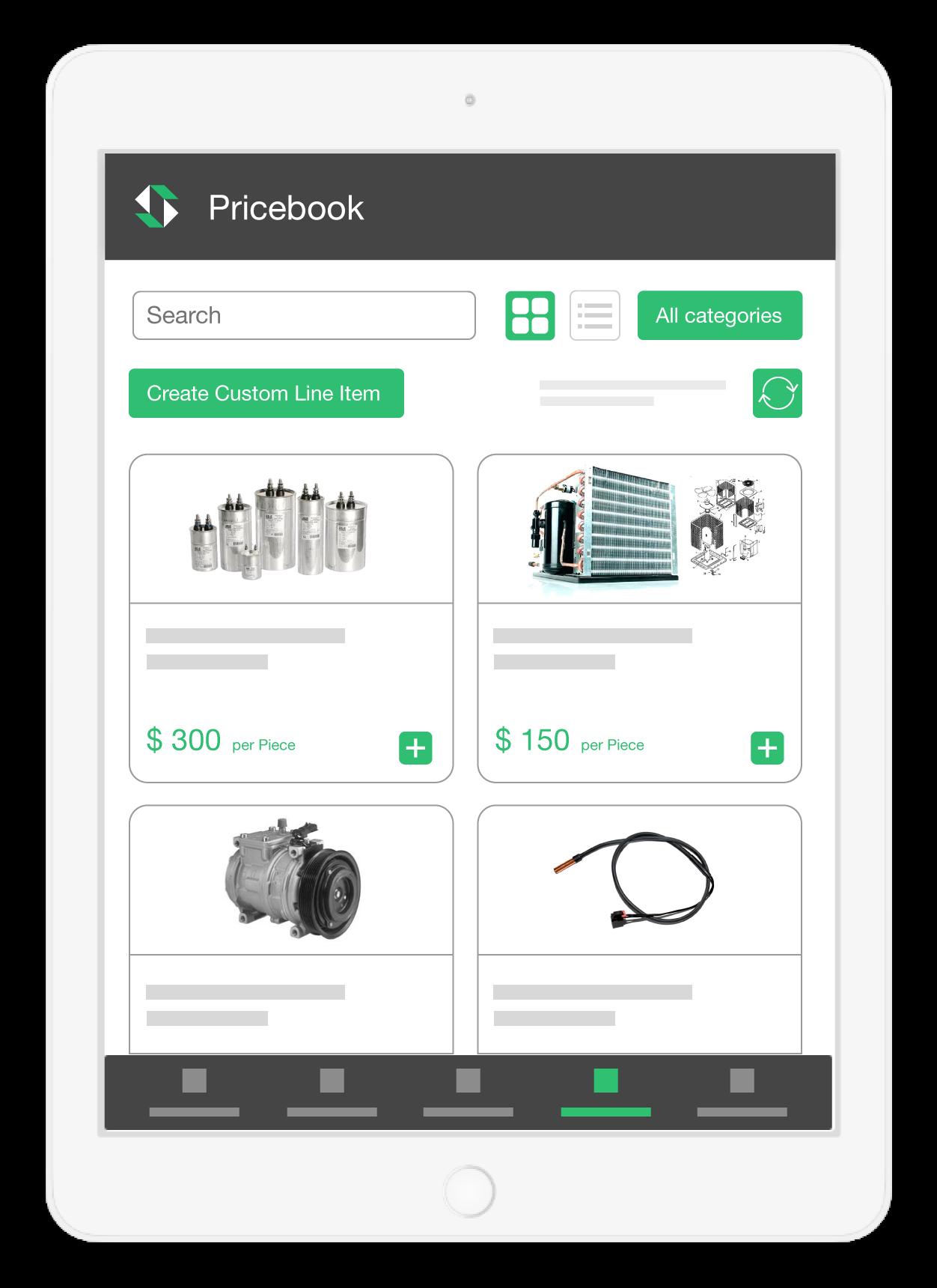 SmartServ Pricebook